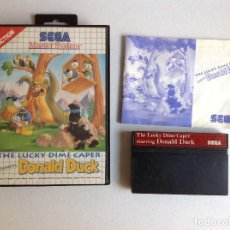 Videojuegos y Consolas: DONALD DUCK THE LUCKY DIME CAPER -MASTER SYSTEM -. Lote 221859538