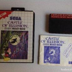 Videojuegos y Consolas: CASTLE OF ILUSIÓN MICKEY MOUSE -MASTER SYSTEM -. Lote 221865048