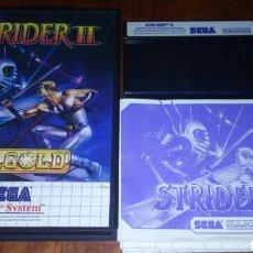 Videojuegos y Consolas: STRIDER II COMPLETO SEGA MASTER SYSTEM. Lote 221883253