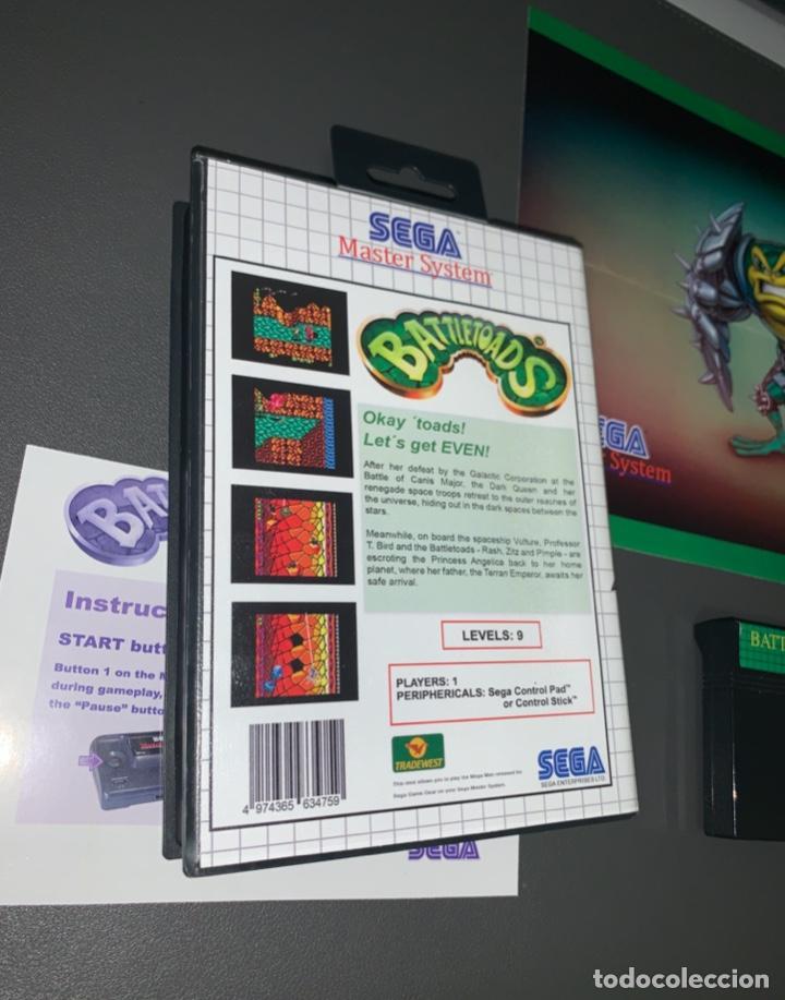Videojuegos y Consolas: VIDEOJUEGO BATTLETOADS - SEGA MASTER SYSTEM - COMPLETO - Foto 2 - 226614530