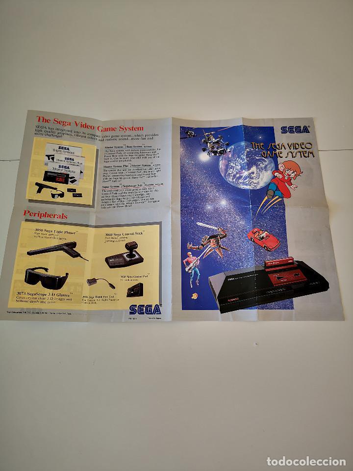 FOLLETO POSTER MASTER SYSTEM II SEGA CATALOGO DE JUEGOS CONSOLA CARTUCHO JUEGO PUNTOS MANUAL (Juguetes - Videojuegos y Consolas - Sega - Master System)