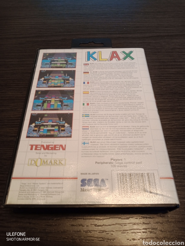 Videojuegos y Consolas: Antiguo Cartucho VideoJuego KLAX by TENGEN - Foto 3 - 229531180