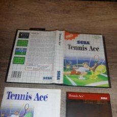 Videojuegos y Consolas: SEGA MASTER SYSTEM TENNIS ACE PAL ESP COMPLETO. Lote 232011300