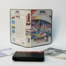 Videojuegos y Consolas: JUEGO CON CAJA ORIGINAL E INSTRUCCIONES. SONIC 2 THE HEDGEHOG. SEGA. MASTER SYSTEM. 1992.. Lote 232554065