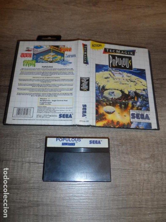 SEGA MASTER SYSTEM POPULOUS PAL ESP SIN MANAUAL (Juguetes - Videojuegos y Consolas - Sega - Master System)