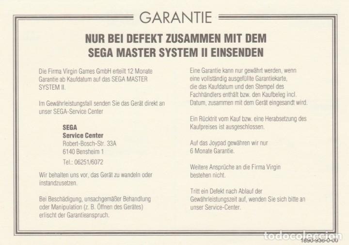 Videojuegos y Consolas: CONSOLA SEGA MASTER SYSTEM 2 - ALEX KIDD Y SONIC INCLUIDOS - CASI COMPLETO - PROBADO Y FUNCIONANDO - Foto 19 - 233327205