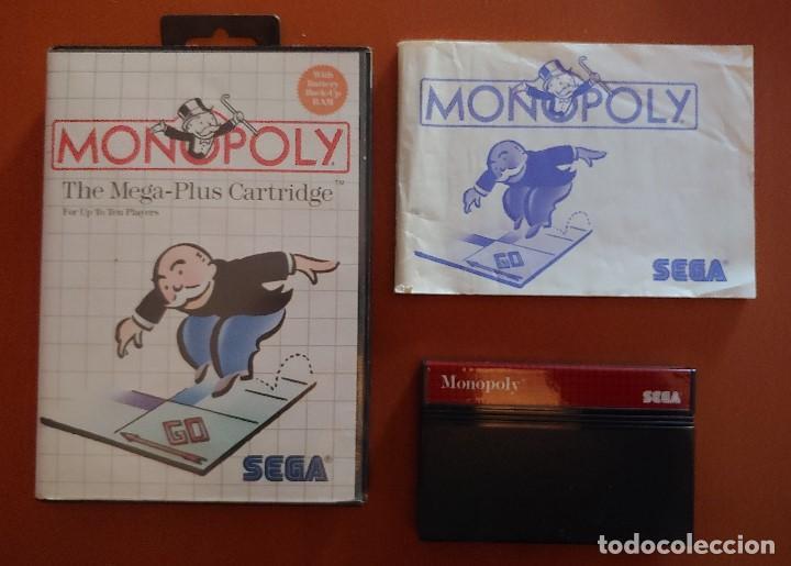 MONOPOLY PARA MASTER SYSTEM COMPLETO (Juguetes - Videojuegos y Consolas - Sega - Master System)