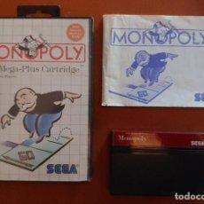 Videojuegos y Consolas: MONOPOLY PARA MASTER SYSTEM COMPLETO. Lote 235515780