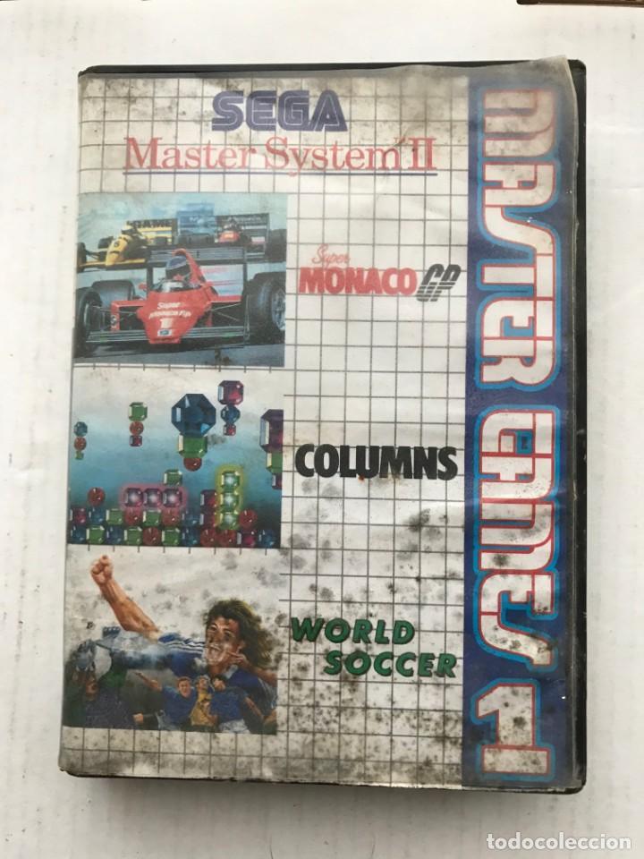 Videojuegos y Consolas: SEGA MASTER SYSTEM II 2 MASTER GAMES 1 MONACO GP COLUMS WORLD SOCCER KREATEN - Foto 2 - 236443465
