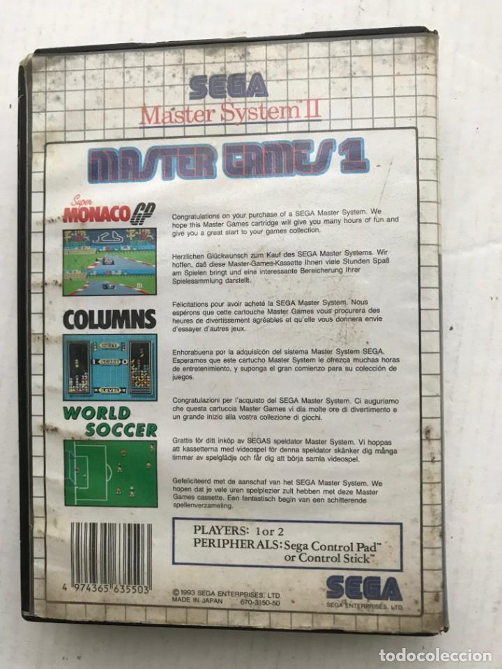 Videojuegos y Consolas: SEGA MASTER SYSTEM II 2 MASTER GAMES 1 MONACO GP COLUMS WORLD SOCCER KREATEN - Foto 3 - 236443465