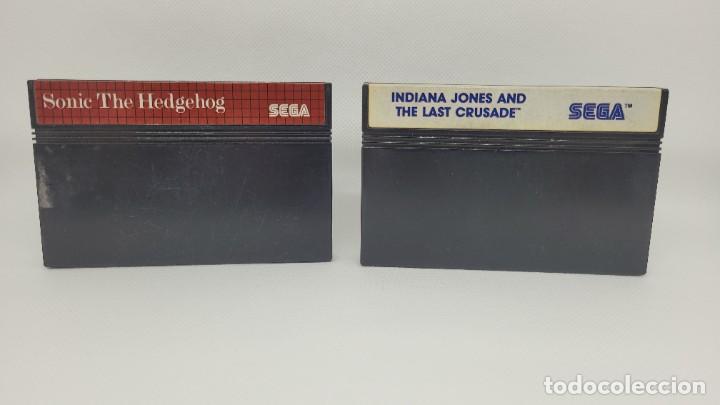 LOTE MASTER SYSTEM INDIANA JONES AND THE LAST CRUSADE Y SONIC THE HEDGEHOGEHOG (Juguetes - Videojuegos y Consolas - Sega - Master System)