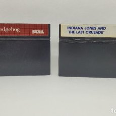 Videojuegos y Consolas: LOTE MASTER SYSTEM INDIANA JONES AND THE LAST CRUSADE Y SONIC THE HEDGEHOGEHOG. Lote 238232290