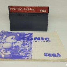 Videojuegos y Consolas: JUEGO MASTER SYSTEM SONIC THE HEDGEHOG CON INSTRUCCIONES. SEGA.. Lote 238338975
