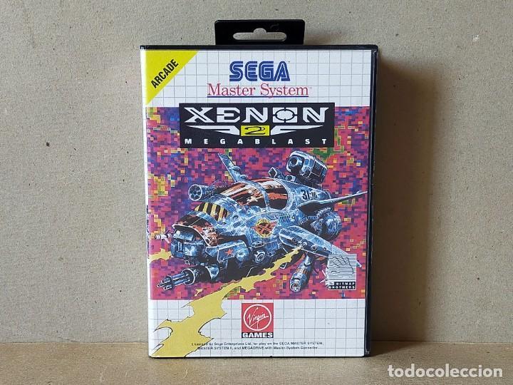 JUEGO SEGA MASTER SYSTEM: XENON 2 MEGABLAST - COMPLETO (Juguetes - Videojuegos y Consolas - Sega - Master System)