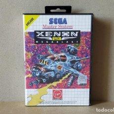 Videojuegos y Consolas: JUEGO SEGA MASTER SYSTEM: XENON 2 MEGABLAST - COMPLETO. Lote 241477210