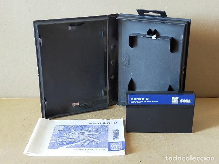 Videojuegos y Consolas: JUEGO SEGA MASTER SYSTEM: XENON 2 MEGABLAST - COMPLETO - Foto 3 - 241477210