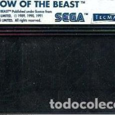 Videojuegos y Consolas: JUEGO MASTER SYSTEM SHADOW OF THE BEAST- SOLO CARTUCHO. Lote 243438755