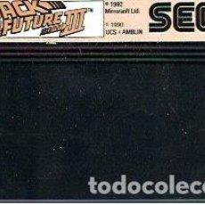 Videojuegos y Consolas: JUEGO MASTER SYSTEM BACK TO THE FUTURE III- SOLO CARTUCHO. Lote 243439270