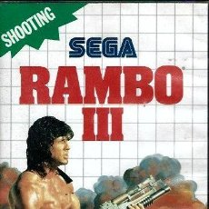 Videojuegos y Consolas: JUEGO MASTER SYSTEM RAMBO III - SOLO CARTUCHO. Lote 243448500