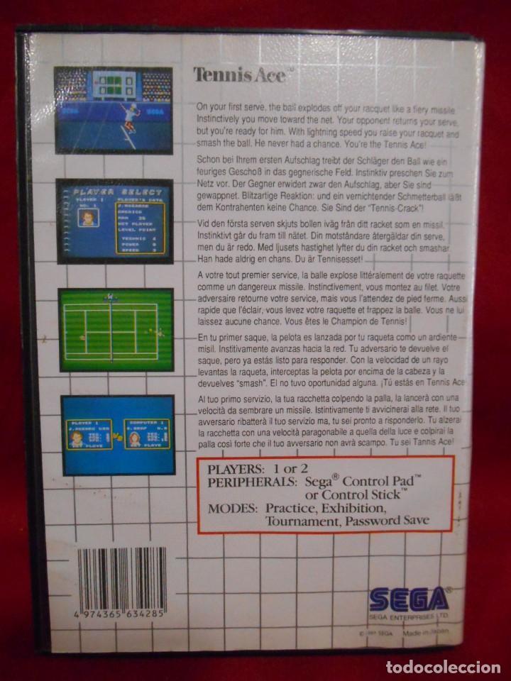 Videojuegos y Consolas: JUEGO DE SEGA MASTER SYSTEM - TENNIS ACE - - Foto 2 - 243521260