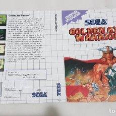 "Videojuegos y Consolas: CARÁTULA DE REEMPLAZO ""GOLDEN AXE WARRIOR"" MASTER SYSTEM. Lote 243922360"