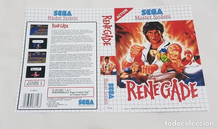 "CARÁTULA REEMPLAZO ""RENEGADE"" MASTER SYSTEM (Juguetes - Videojuegos y Consolas - Sega - Master System)"