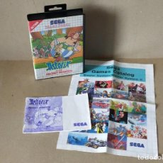 Videojuegos y Consolas: SEGA MASTER SYSTEM: ASTERIX AND THE SECRET MISSION, MANUAL CON CAJA Y CARATULA + CATALOGO SEGA. Lote 244500390