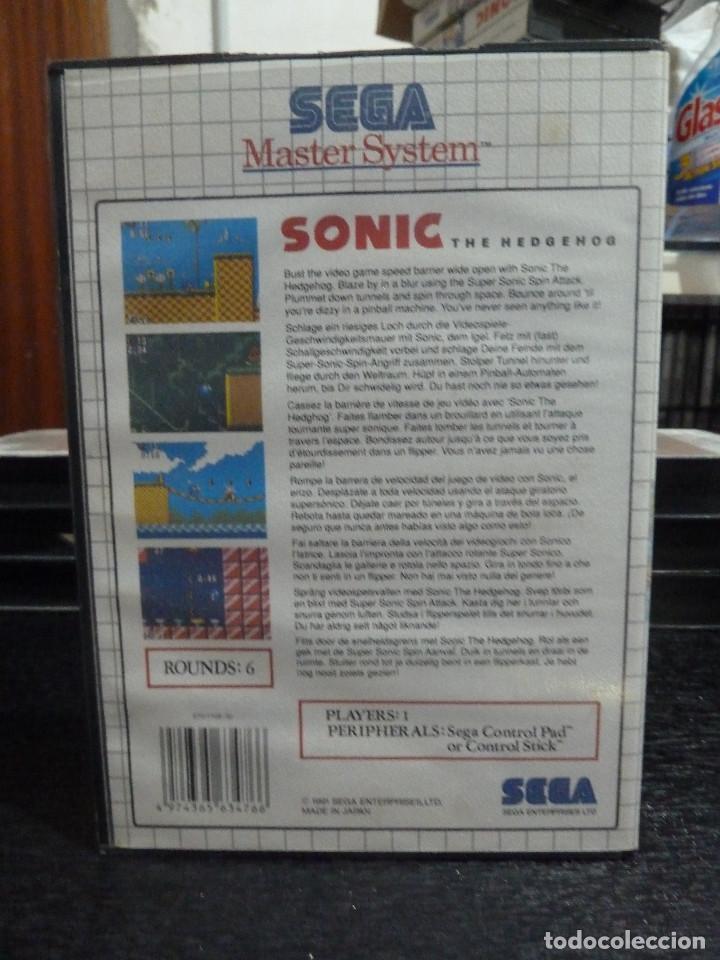 Videojuegos y Consolas: JUEGO DE MASTER SYSTEM SONIC THE HEDGEHOG - Foto 2 - 244704330