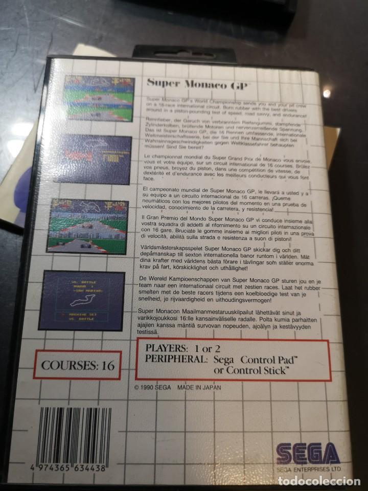 Videojuegos y Consolas: juego sega súper Monaco gp sega master system - Foto 2 - 245097995