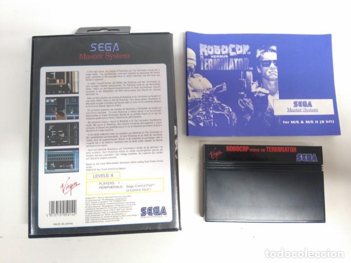 Videojuegos y Consolas: ROBOCOP VERSUS THE TERMINATOR PARA SEGA MASTER SYSTEM ENTRE Y MIRE MIS OTROS JUEGOS! - Foto 2 - 245285950