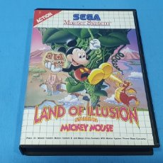 Videojuegos y Consolas: LAND OF ILLUSION - MICKEY MOUSE - ACTION SEGA - MASTER SYSTEM. Lote 251794600