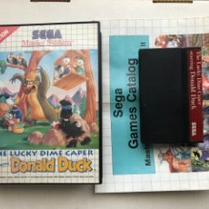 Videojuegos y Consolas: THE LUCKY DIME CAPER SATRRING DONALD DUCK SEGA MASTER SYSTEM MASTERSYSTEM KREATEN DISNEY. Lote 254081495
