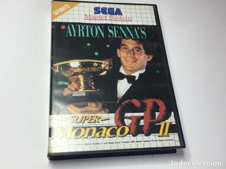 JUEGO MASTER SYSTEM SUPER MONACO GP II AYRTON SENNA'S (Juguetes - Videojuegos y Consolas - Sega - Master System)