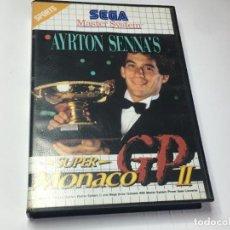 Videojuegos y Consolas: JUEGO MASTER SYSTEM SUPER MONACO GP II AYRTON SENNA'S. Lote 260750385