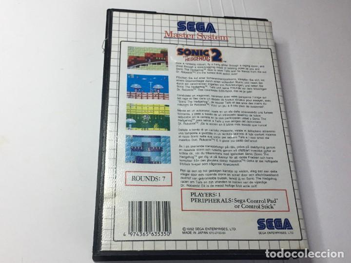 Videojuegos y Consolas: JUEGO MASTER SYSTEM SONIC 2 THE HEDGEHOG - Foto 3 - 260750555