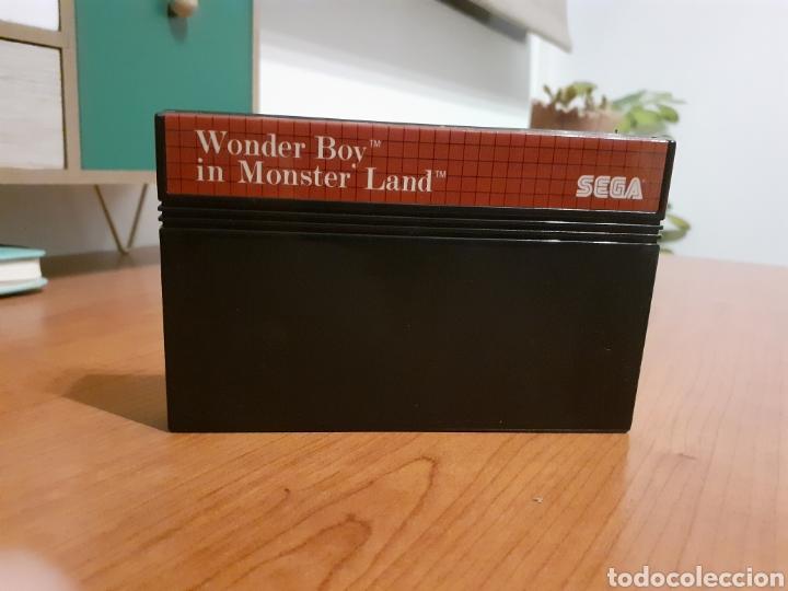 """Videojuegos y Consolas: Lote 3 cartuchos originales """"sagaia , the simpsons bart vs the world ,wonder boy in monster land"""" - Foto 4 - 262359975"""