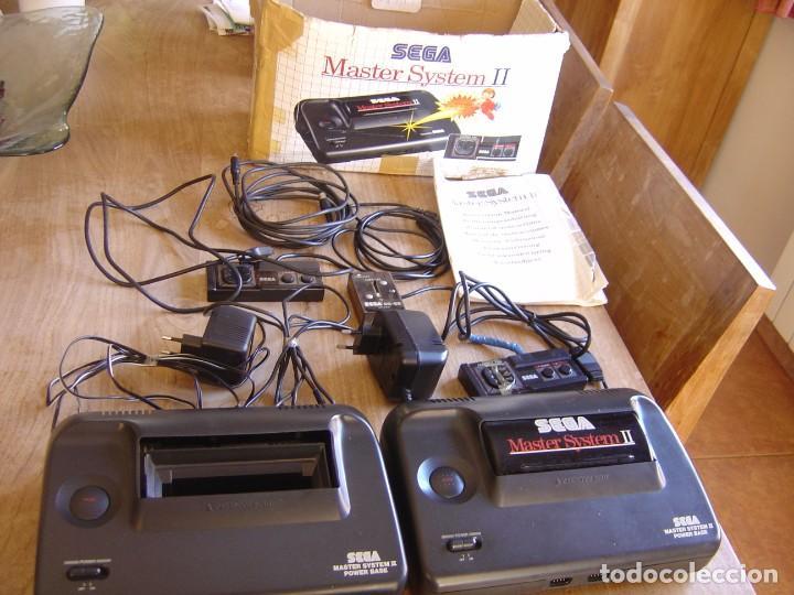LOTE DE CONSOLAS Y MATERIAL SEGA MASTER SYSTEM II. (Juguetes - Videojuegos y Consolas - Sega - Master System)