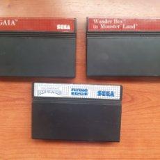 """Videojuegos y Consolas: LOTE 3 CARTUCHOS ORIGINALES """"SAGAIA , THE SIMPSONS BART VS THE WORLD ,WONDER BOY IN MONSTER LAND"""". Lote 262359975"""