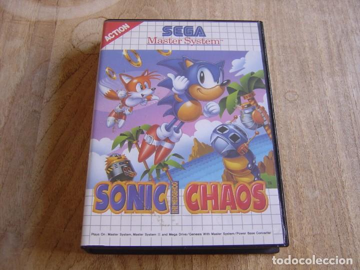 SEGA MASTER SYSTEM. SONIC THE HEDGEHOG CHAOS. (Juguetes - Videojuegos y Consolas - Sega - Master System)