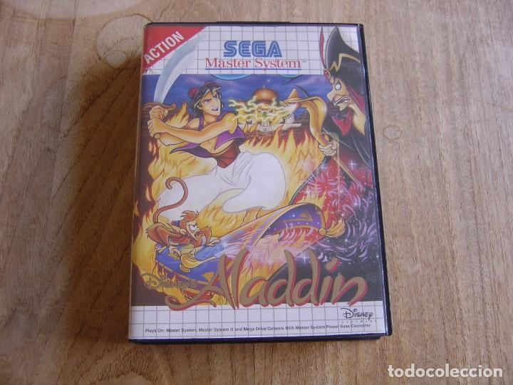 SEGA MASTER SYSTEM. ALADIN. SOLO LA CAJA Y CARÁTULA. (Juguetes - Videojuegos y Consolas - Sega - Master System)