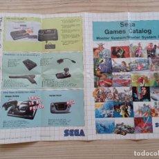 Videojuegos y Consolas: CATALOGO SEGA MASTER SYSTEM - MASTER SYSTEM II. Lote 270637313