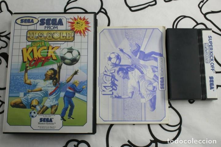 SEGA MASTER SYSTEM SUPER KICK OFF COMPLETO (Juguetes - Videojuegos y Consolas - Sega - Master System)