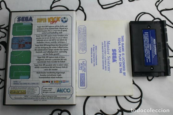 Videojuegos y Consolas: SEGA MASTER SYSTEM SUPER KICK OFF COMPLETO - Foto 2 - 271955293