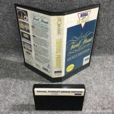 Videojuegos y Consolas: TRIVIAL PURSUIT GENUS EDITION SEGA MASTER SYSTEM. Lote 271993818