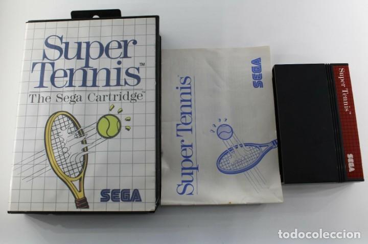 SEGA MASTER SYSTEM SUPER TENNIS COMPLETO (Juguetes - Videojuegos y Consolas - Sega - Master System)