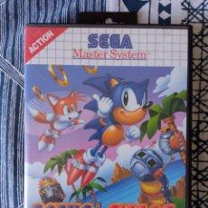 Videojuegos y Consolas: SONIC CHAOS - SEGA MASTER SYSTEM - COMPLETO. Lote 273267218