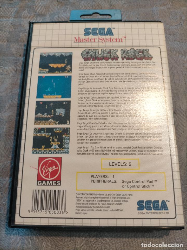 Videojuegos y Consolas: CHUCK ROCK DE SEGA MASTER SYSTEM COMPLETO PAL EUROPE - Foto 8 - 276570163