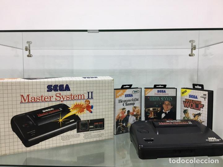 MASTER SYSTEM II SEGA CON CAJA, CABLES, MANDO Y JUEGOS (Juguetes - Videojuegos y Consolas - Sega - Master System)