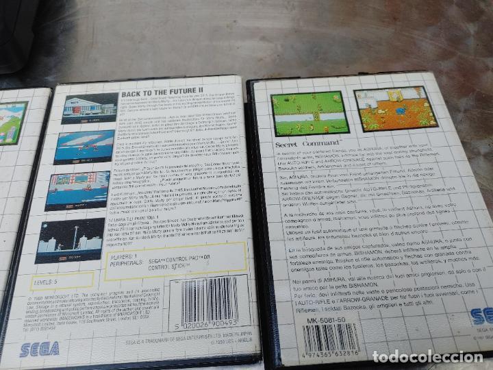 Videojuegos y Consolas: LOTE CONSOLA SEGA MASTER SYSTEM II CON 5 JUEGOS SONIC, OUT RUN, SECRET COMMAND, FANTASY ZONE Y BACK- - Foto 6 - 277700658