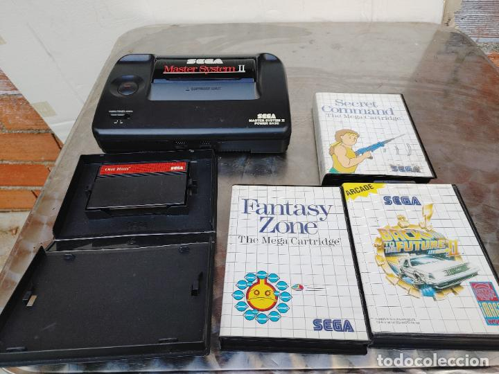 LOTE CONSOLA SEGA MASTER SYSTEM II CON 5 JUEGOS SONIC, OUT RUN, SECRET COMMAND, FANTASY ZONE Y BACK- (Juguetes - Videojuegos y Consolas - Sega - Master System)